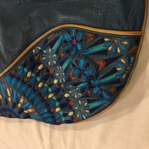 Isabella Fiore Teal beaded bag